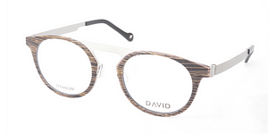 DAVID Green Desna Wood Frame With Free Lenses