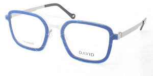David Green Sustainable Eyewear Drew Blue Leaf