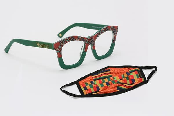 Kente Collection Green and Mask scaled