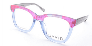 David Green Chela Pink Crystal Frame With Free Lenses
